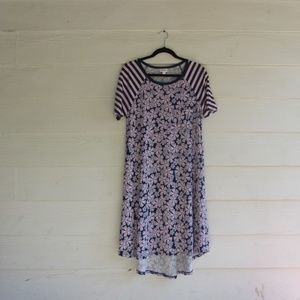 LuLaRoe Purple Floral Carly Dress